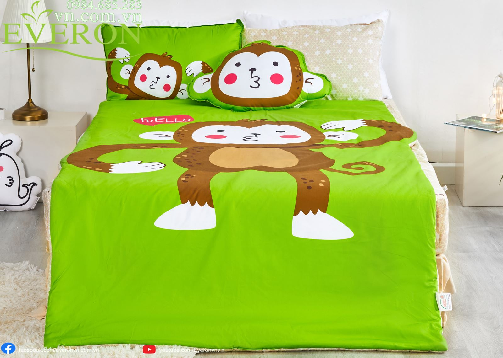 Bộ Everon Baby Set Monkey